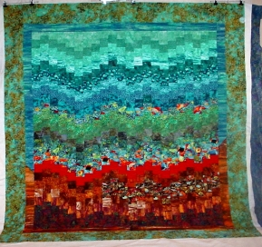 Under the Sea quilt by Jerusha
