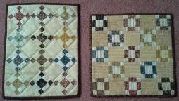 2 mini quilts
