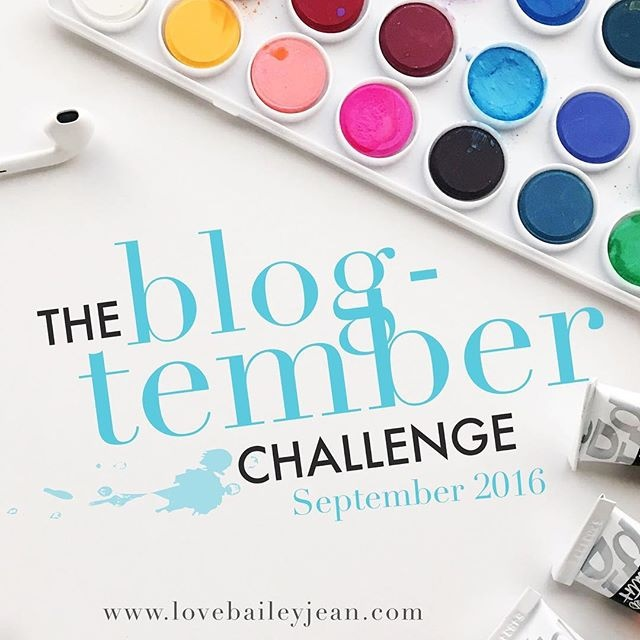 The Blog-tember Challenge 2016